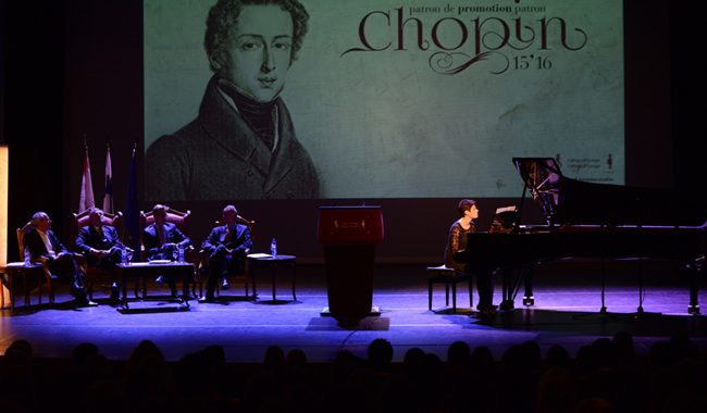 Chopin At The Opening Ceremony Of The Sixty-sixth Academic Year Of The College Of Europe (BRUGES-BELGIUM)